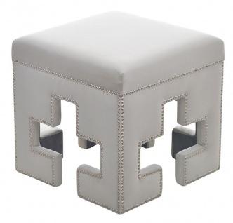 Casa Padrino Luxus Sitzhocker Eckig Cross H46.5 x 48 cm - Luxus Qualität - ALLE FARBEN - Neo Classic Vintage Style Hocker - Möbel