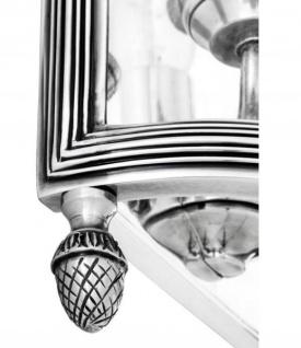 Casa Padrino Luxus Wandleuchte Antik Silber Durchmesser 21 x 11 x H 34, 5 cm - Luxus Leuchte - Vorschau 2
