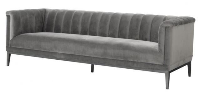 Casa Padrino Sofa Grau 230 x 86 x H. 75 cm - Luxus Kollektion