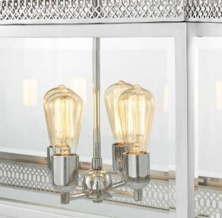 Casa Padrino Luxus Kronleuchter Silber 100 x 38 x H. 84 cm - Hotel Restaurant Möbel - Vorschau 3