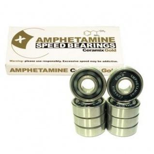 Amphetamine Ceramics Gold Skateboard Kugellager Keramik Bearings Ceramic Bearing Set