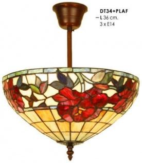 Casa Padrino Tiffany Deckenleuchte Durchmesser 36 cm Leuchte Lampe