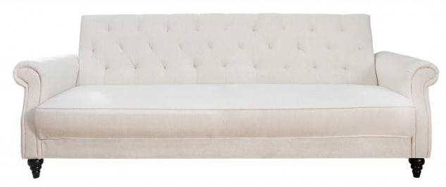 Casa Padrino Designer Sofa Beige mit Schlaffunktion 220cm x 95cm x H. 88cm - Wohnzimmer Möbel - Couch