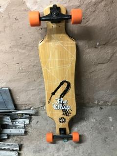 Flying Wheels Longboard Whip Bamboo Komplettboard 39.0 x 9.5 inch - 1B Ware mit Lagerspuren
