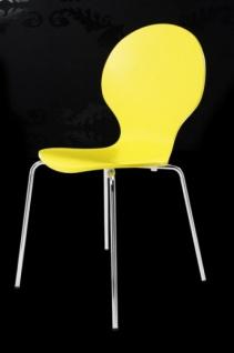 Casa Padrino Designer Stuhl Form Gelb 9411