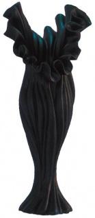 Designer Blumenvase Schwarz, wunderschöne Vase (H 81cm x B 35cm x T 33cm) - sehr edle und moderne Vase
