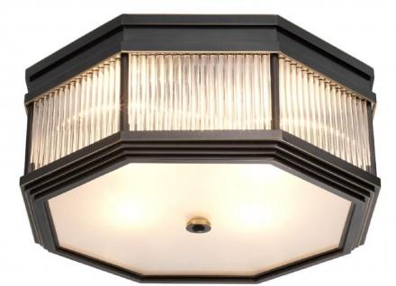 Casa Padrino Luxus Deckenleuchte Bronze 40, 5 x 40, 5 x H. 18 cm - Luxus Kollektion