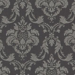 Casa Padrino Barock Textiltapete Anthrazit / Grau 10, 05 x 0, 53 m - Wohnzimmer Tapete im Barockstil - Hochwertige Qualität