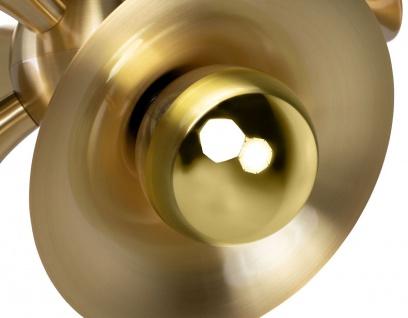 Casa Padrino Luxus Hängeleuchte Messingfarben 55 x 55 x H. 53 cm - Messing Pendelleuchte - Wohnzimmer Lampe - Luxus Kollektion - Vorschau 4
