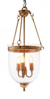 Casa Padrino Luxus Laterne - Luxus Messing Hängeleuchte Durchmesser 32 x H 70 cm - Vorschau 2