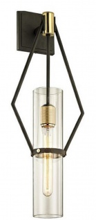 Casa Padrino Luxus Wandleuchte Bronze / Messing 24, 1 x 14, 6 x H. 64, 8 cm - Designer Wohnzimmer Wandlampe