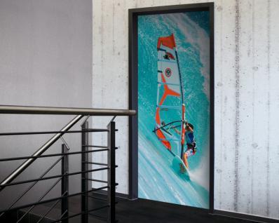 Tür 2.0 XXL Wallpaper für Türen 20026 Surfer - selbstklebend- Blickfang für Ihr zu Hause - Tür Aufkleber Tapete Fototapete FotoTür 2.0 XXL Vintage Antik Stil Retro Wallpaper Fototapete