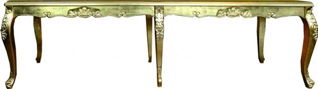 Riesig Langer Casa Padrino Barock Luxus Esstisch Gold 300 cm x 100 cm - Esszimmer Tisch - Made in Italy - Luxury Collection