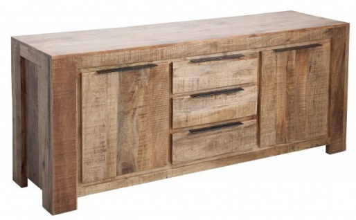 Casa Padrino designer Kommode 174 x 50 x H.76cm - Fernsehschrank - Sideboard - Handgefertigt aus Massivholz - Unikat!