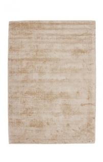 Casa Padrino Designer Teppich Vintage Look Viscose Beige - Handgefertigt - Möbel Teppich
