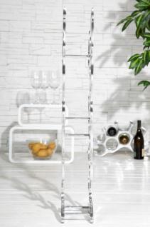 Designer Weinregal für 9 Flaschen poliertes Aluminium Höhe: 93 cm, Breite: 27 cm, Tiefe: 14 cm - Flaschenhalter, Flaschenablage Flammen Flames - Vorschau 5