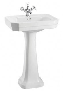Casa Padrino Luxus Porzellan Waschbecken mit Sockel 56 x 47 x H. 90 cm - Hotel Restaurant Möbel