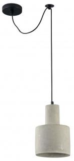 Casa Padrino Hängeleuchte Grau Ø 16 x H. 22, 5 cm - Moderne Pendelleuchte mit Beton Lampenschirm