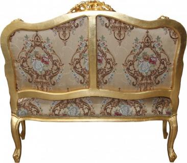 Casa Padrino Barock Sofa Creme Muster / Gold - italienischer Stil - Barock Möbel - prunkvoll und ausgefallen! - Vorschau 4