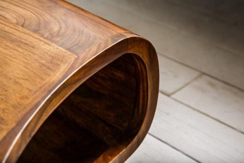 Casa Padrino Designer Massivholz Sheesham Couchtisch Natur Braun 90cm x H.38cm - Salon Wohnzimmer Tisch - Retro Couchtisch - Vorschau 5