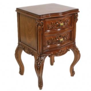 Casa Padrino Barock Kommode Mahagoni H 70 cm, B 50 cm, T 40 cm - Nachttisch Kommode - Italienische Stil Möbel - Vorschau 2
