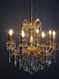 Casa Padrino Barock Kristall Kronleuchter 8-Flammig Gold ModK6 - Hängeleuchte Lüster Hängelampe Deckenlampe