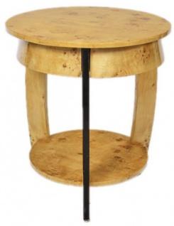 Casa Padrino Art Deco Beistelltisch Vogelaugen Ahorn H65 x 75cm - Ludwig XVI Antik Stil Tisch - Möbel - Vorschau 2