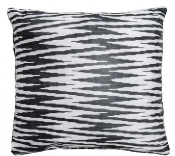 Casa Padrino Luxus Kissen Mod2 Schwarz / Weiß 40 x 40 cm - Wohnzimmer Deko Accessoires - Vorschau 4