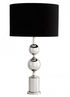 Luxus Tischleuchte von Casa Padrino Schwarz / Nickel Finish ModE1- Leuchte Lampe