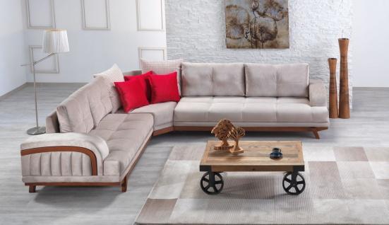 Casa Padrino Designer Wohnzimmer Set 337 x 278 cm - Ecksofa - Creme-Grau Hotel Möbel
