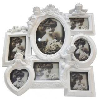 Casa Padrino Barock 7er Bilderrahmen Weiß 30 x 5 x H. 31 cm - Deko Accessoires im Barockstil