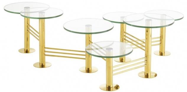 Casa Padrino Designer Wohnzimmertisch / Couchtisch Gold - Designer Wohnzimmermöbel
