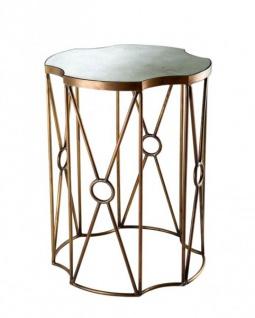 Casa Padrino Luxus Art Deco Designer Beistelltisch 2er Set Antik Messing - Hotel Tisch Möbel - Vorschau 2