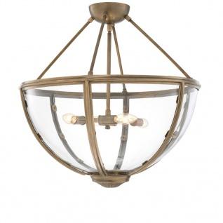 Casa Padrino Luxus Deckenleuchte Antik Messing Gold Ø 60 x H. 55 cm - Hotel & Restaurant Deckenlampe