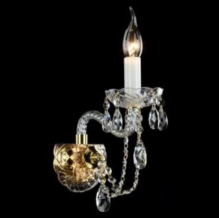 Casa Padrino Barock Wandleuchte Gold 27 x H 23 cm Antik Stil - Wandlampe Wand Beleuchtung