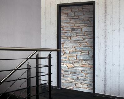 Tür 2.0 XXL Wallpaper für Türen 20029 Mosel Steine Mauer - selbstklebend- Blickfang für Ihr zu Hause - Tür Aufkleber Tapete Fototapete FotoTür 2.0 XXL Vintage Antik Stil Retro Wallpaper Fototapete - Vorschau 1