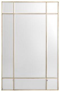 Casa Padrino Luxus Spiegel / Wandspiegel Vintage Messingfarben 90 x 3 x H. 140 cm - Luxus Möbel
