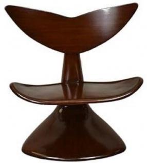 Casa Padrino Designer Mahagoni Stuhl Dunkelbraun 83 x 68 x H. 87 cm - Designermöbel - Luxus Qualität - Vorschau 4