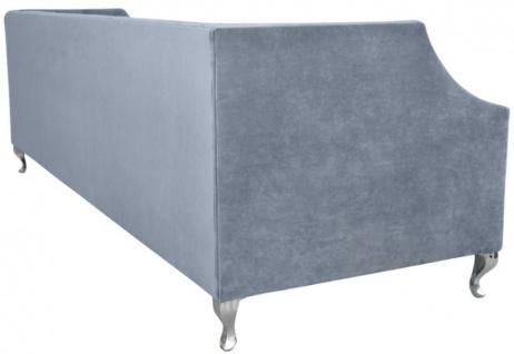 Casa Padrino Luxus Chesterfield Samt Sofa mit Kissen 225 x 84 x H. 76, 5 cm - Verschiedene Farben - Chesterfield Wohnzimmer Möbel - Vorschau 4