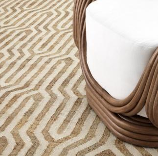 Casa Padrino Luxus Wohnzimmer Teppich Naturfarben / Weiß 300 x 400 cm - Luxus Qualität