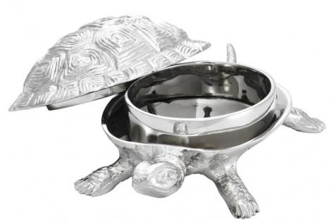 Casa Padrino Luxus Schatulle mit Deckel Schildkröte Messing vernickelt 19, 5 x 10, 5 x H. 6, 5 cm - Luxus Dekoration - Vorschau 2