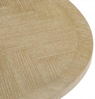 Casa Padrino Luxus Esstisch Naturfarben / Messing 200 x 120 x H. 76 cm - Ovaler Küchentisch - Luxus Esszimmer Möbel - Vorschau 5