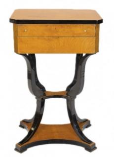 Casa Padrino Barock Nähtisch / Uhrenbox Tisch Vogelaugen Ahorn / Gold    Nachtschrank Antik Stil