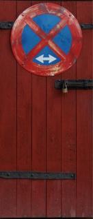 Tür 2.0 XXL Wallpaper für Türen 20008 No Parking - selbstklebend- Blickfang für Ihr zu Hause - Tür Aufkleber Tapete Fototapete FotoTür 2.0 XXL Vintage Antik Stil Retro Wallpaper Fototapete - Vorschau 2