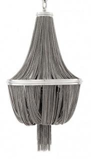 Casa Padrino Luxus Kronleuchter - Luxus Hängeleuchte Nickel Durchmesser 44 x H 84 cm