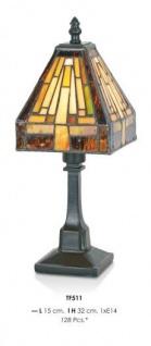 Handgefertigte Tiffany Tischleuchte Höhe 32 cm, Länge 15 cm - Leuchte Lampe - Vorschau