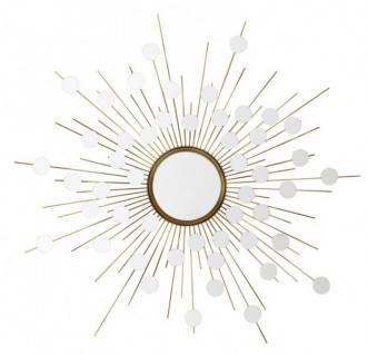 Casa Padrino Luxus Designer Wandspiegel Sunshine Gold B 155 x H 155 cm - Luxury Hotel Collection