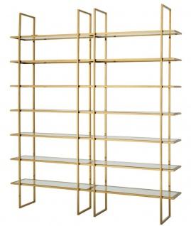 Casa Padrino Luxus Regalschrank Gold 220 x 40 x H. 253 cm - Luxus Qualität