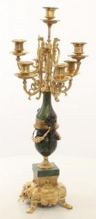 Casa Padrino Barock Kerzenständer Set Gold / Grün 22 x 26 x H. 62, 4 cm - Barockstil Möbel - Vorschau 2