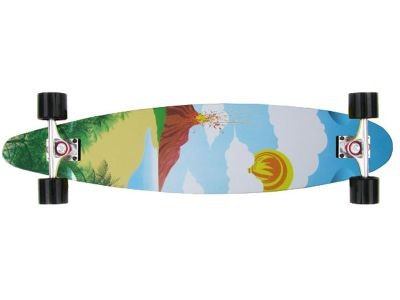 Paradise Longboard Skateboard Poster Kicktail 40x9 inch